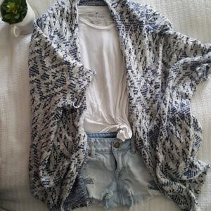 H&M Oversized Indigo Pattern Cardigan